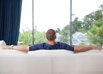 Relaxing In Professional Cleaner Cleaned Home