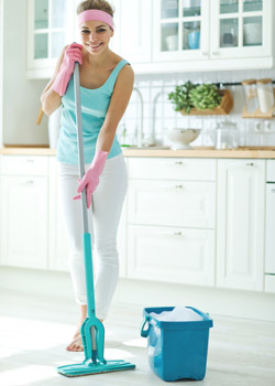 Efficient Home Cleaning Mopping Floor